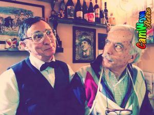 con Aldo Leonardi ( sul Set Sit Com '' Arts Cafe 2 '')